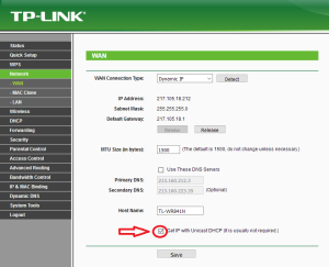 TP-Link Unicast DHCP